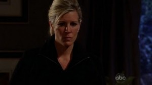 Carly Feb  4th 300x168 Who Cut Brendas Wedding Dress to Pieces? GH